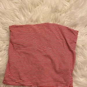 Red and white Brandy Melville top
